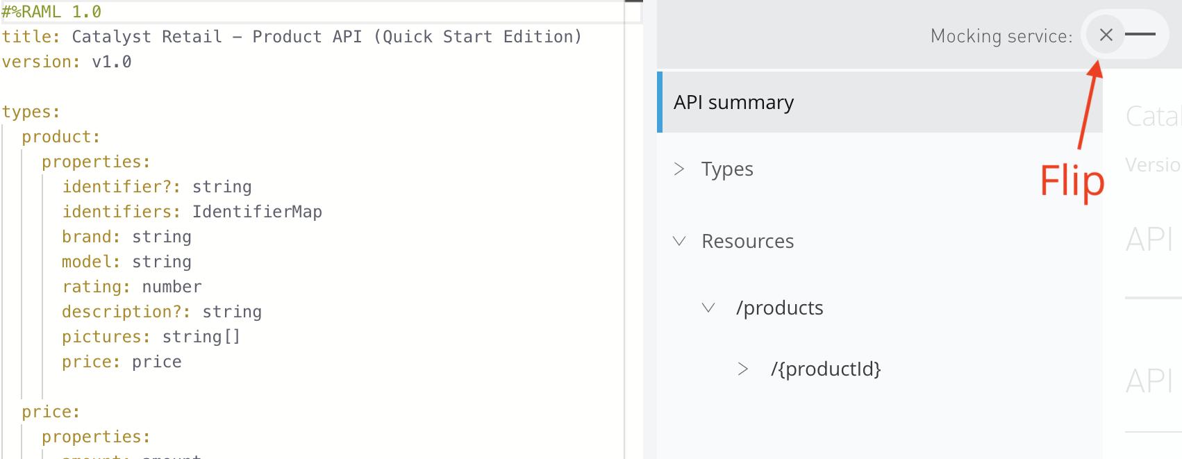 Start API mocking service