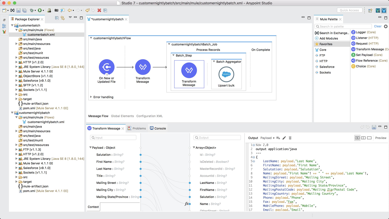 Transform data from batch step using DataWeave
